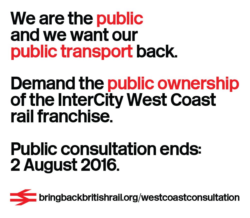 InterCity West Coast Public Consultation