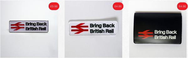 Bring Back British Rail Merchandise